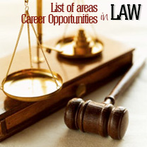 Law / Career Opportunities & List of areas
